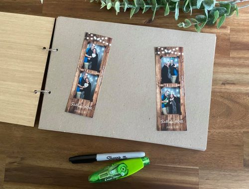 wedding guest book wooden adelaide