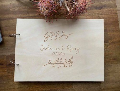 wooden guest books